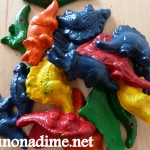 Melted Crayons into Fun Shapes