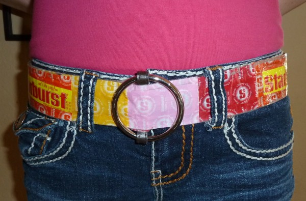 Creative Belt Made From Candy Wrappers