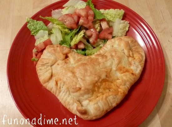 Heart Shaped Calzones