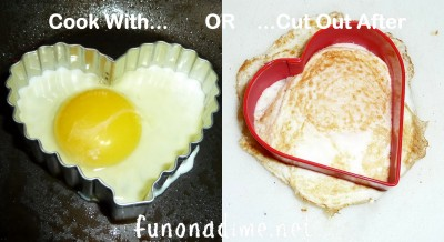 Creative way to make eggs - Heart style
