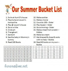 Summer Bucket List 2012 funonadime.net