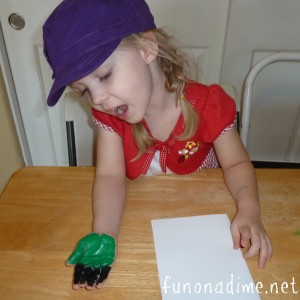 Frankenstein Hand print Kids Craft