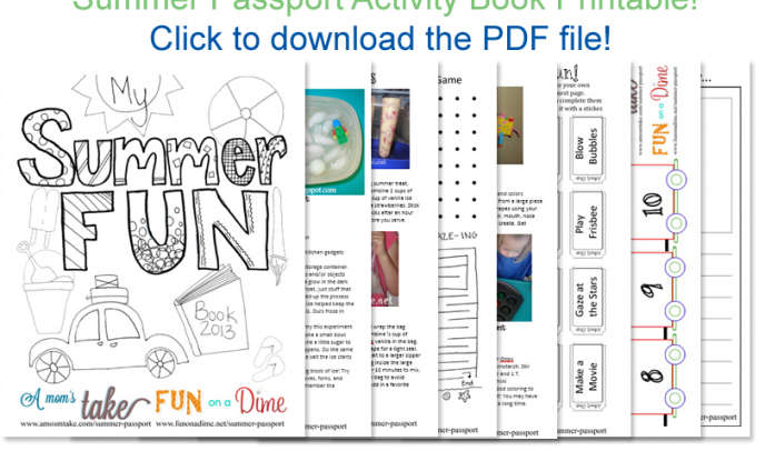 Summer Passport - Free Printable Summer Activity Book