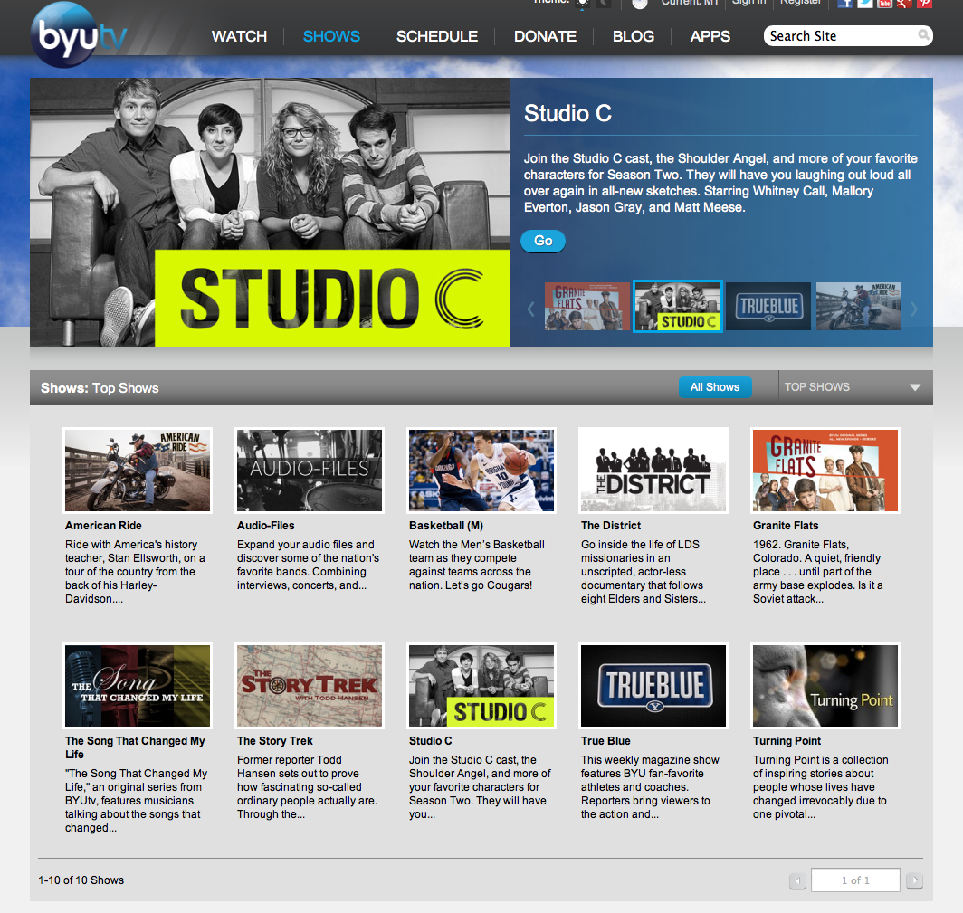 BYUtv Shows