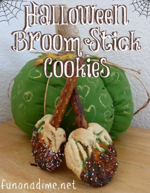 Broom Stick Cookies Recipe - Halloween . The kids will love to help create these!
