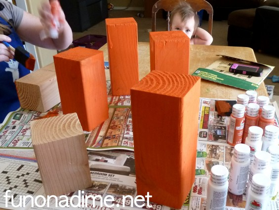 Painted Wooden Blocks