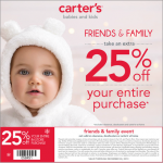 Carter's Friends and Family 25% Off Coupon #CartersFam #sponsored #MC