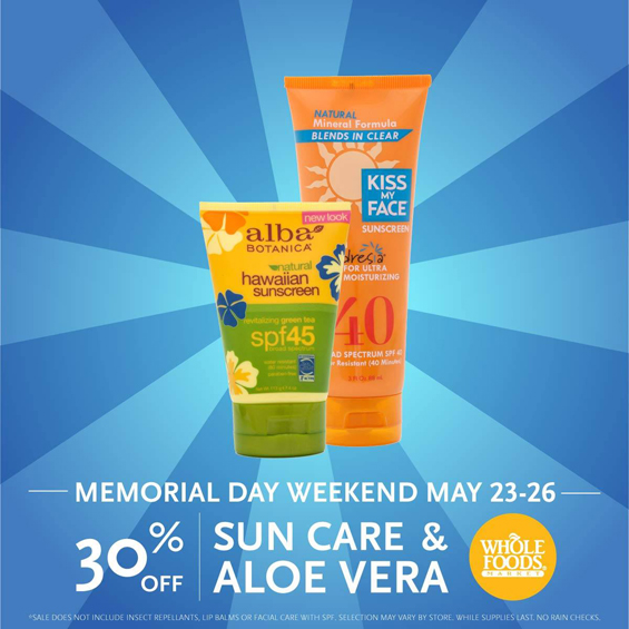 Whole Foods Market Sun Care Sale