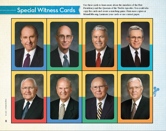 General Conference - General Authority Flash Cards