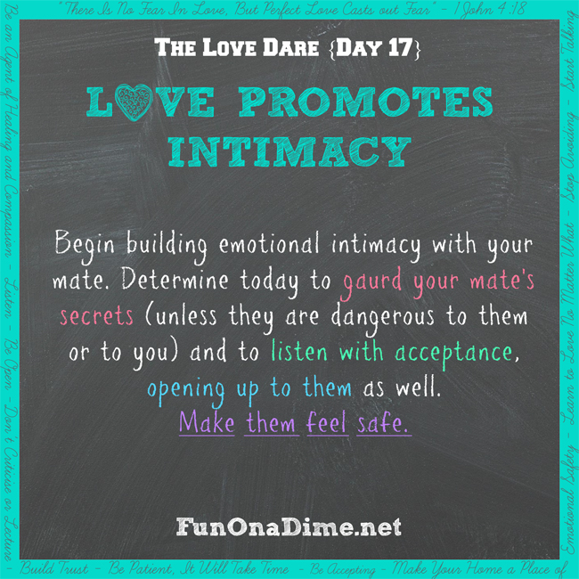 Love Dare - Day 17 - FunOnaDime.netTravel Games
