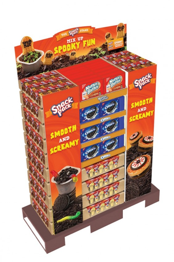 Pudding Snack Pack display