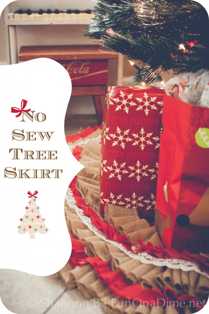 Easy no Sew Tree Skirt Tutorial
