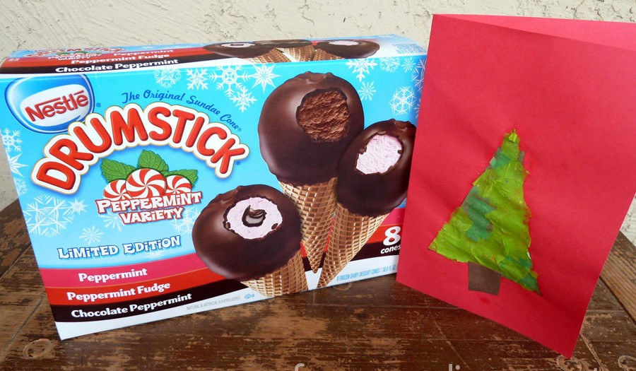 Simplifying Our Holidays – Easy Kid Made Card and Easy Peppermint Holiday Dessert