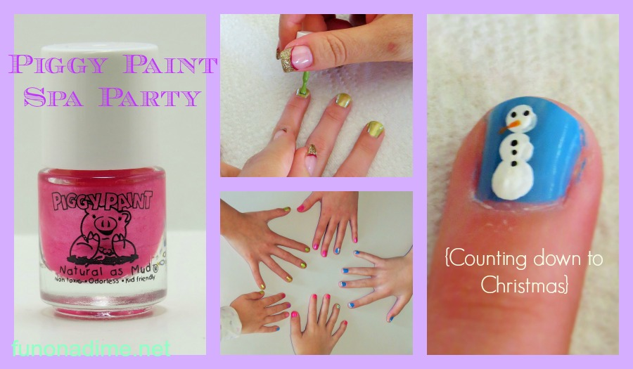 Piggy Paint Spa Day {Christmas Countdown}
