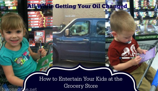 grocery shopping and oil change