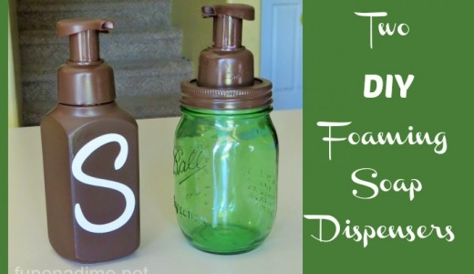 Two DIY Foaming soap dispensers