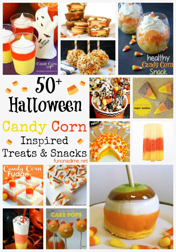 50+ halloween candy corn inspired treats & snakcs